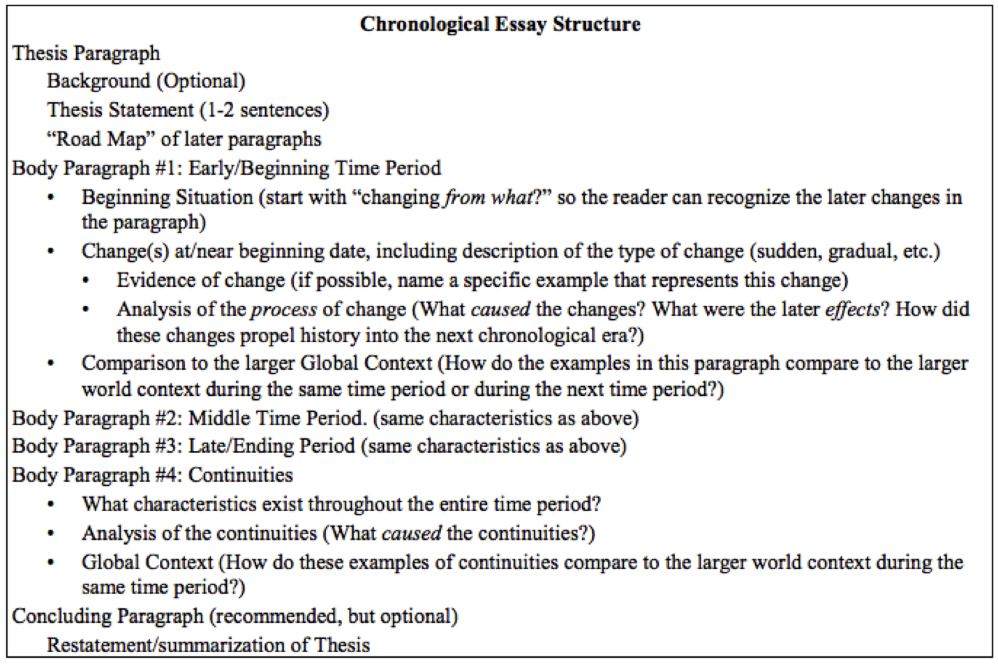 Strategies for the Continuity and Change-Over-Time Question